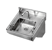 Commercial Wall-Mount Stainless Steel Sinks - Just Manufacturing