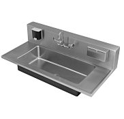Commercial Stainless Steel Wall Mount Sinks - Just Manufacturing